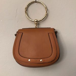 NEW Brown Mini Purse with Round Handle